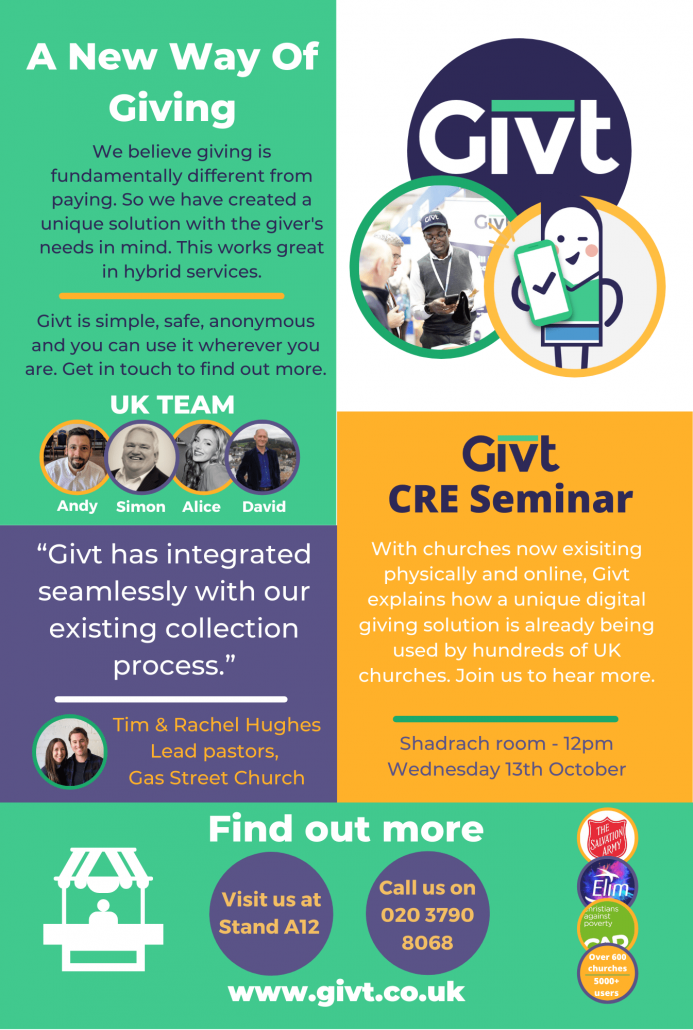 A new way of giving, Givt at the CRE 2021